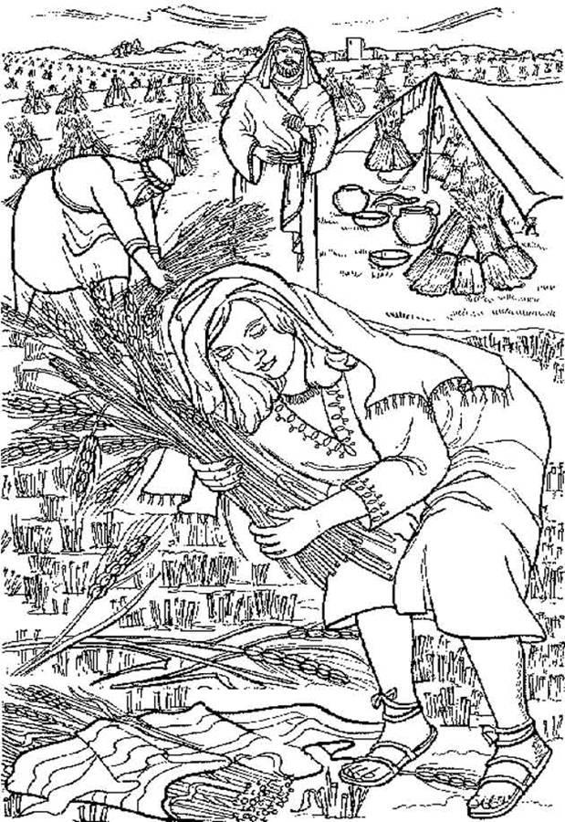 Ruth dr pat 39 s orthodox super sunday school curriculum for Ruth and boaz coloring pages