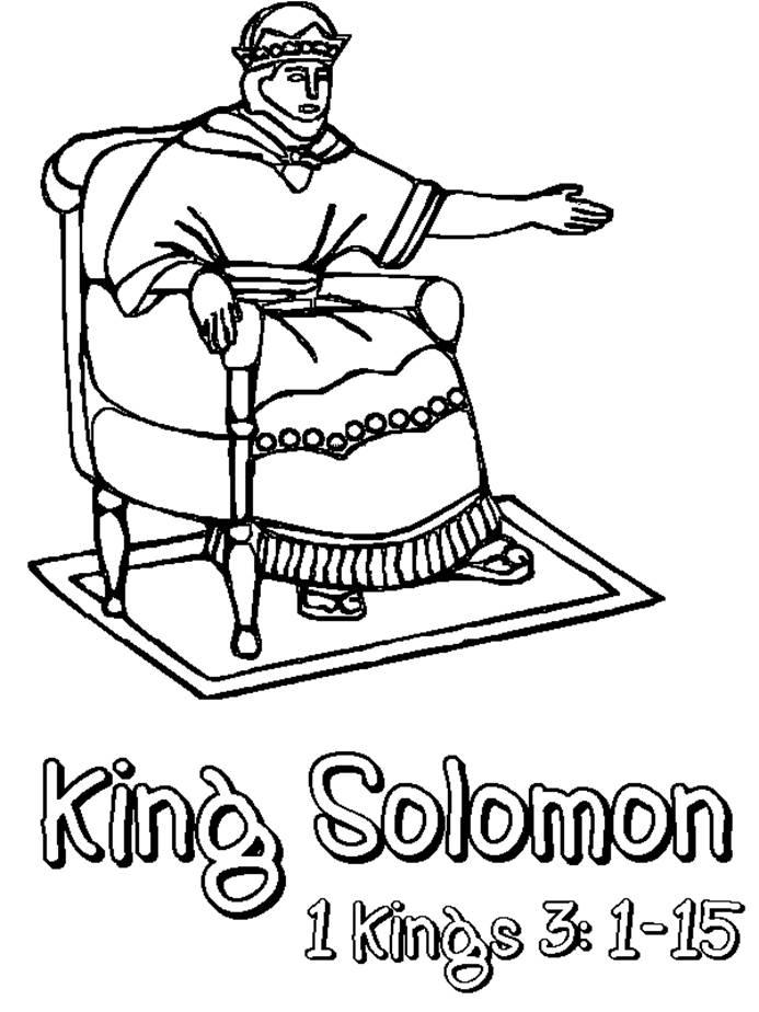 david and solomon coloring pages - photo#12