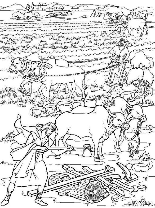 Elisha and the Invisible Angel Army Coloring page. Jehovah-Sabaoth ... | 876x655