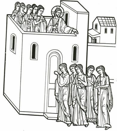 The Parable of The Ten Bridesmaids | Jesus coloring pages, Bible ... | 436x392
